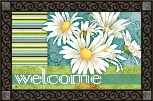 """Daisy Joy"" Welcome Mat from Magnet Works, Ltd"