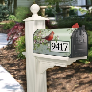 Mailbox with Mailwraps Magnetic Mailbox Cover