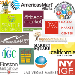 Various Gift, Home, & Garden Tradeshow Logos