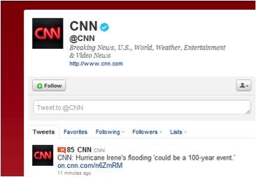 CNN's Twitter Feed