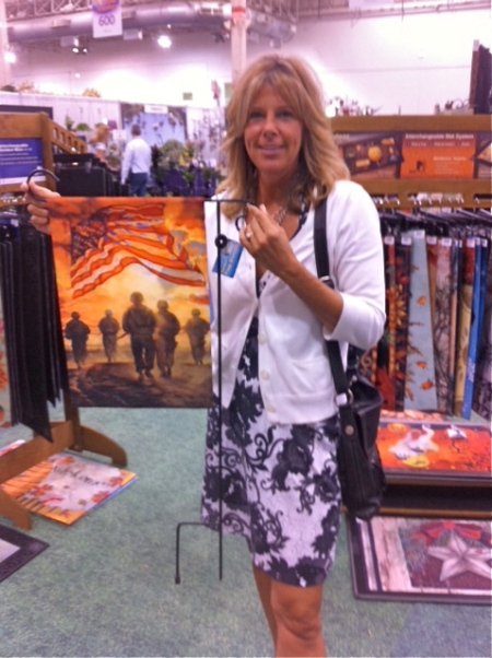We gave Kristy Maniscalco our American Heros Flag for her auction benefiting Honor Flight Chicago, which sends WWII Vets to the Memorial in Washington, D.C.  Her auction is August the 24th.