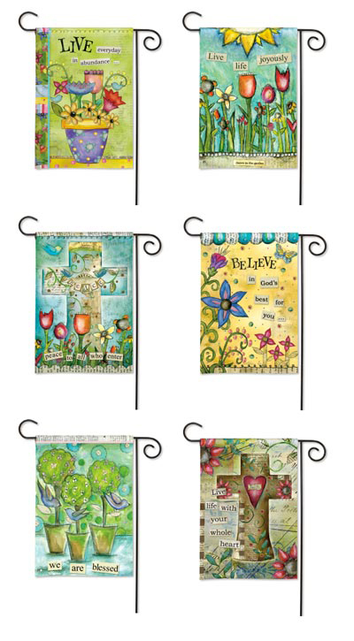 Designs by Lisa Kaus on BreezeArt Garden flags