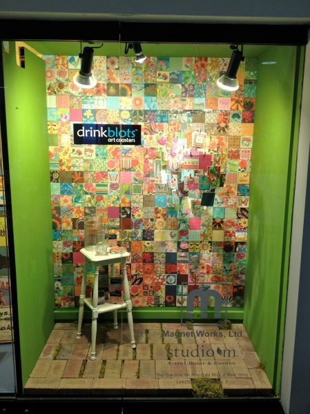 Our DrinkBlots window display at Americasmart Atlanta.