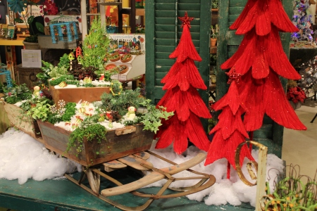 Gypsy Garden Winter sled display