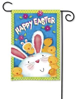 Bunny Wanna Be BreezeArt Garden Flag by Victoria Hutto
