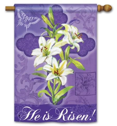 Easter Lily BreezeArt Standard Flag by Gail Flores