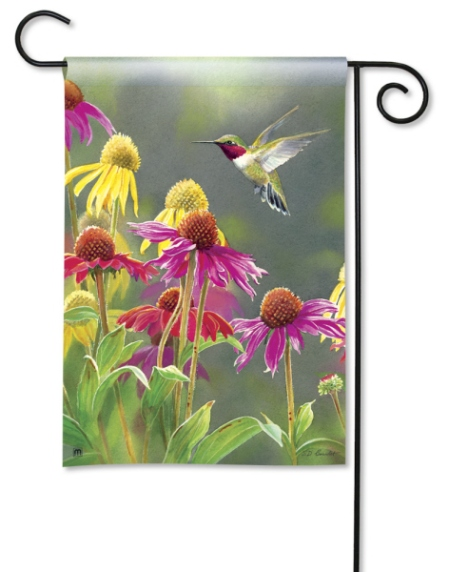 Hummingbird Heaven BreezeArt Garden Flag by Susan Bourdet