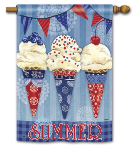 Scoops of Summer BreezeArt Standard Flag by Jennifer Brinley