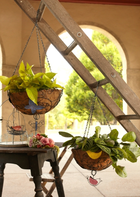Patina Hanging Baskets