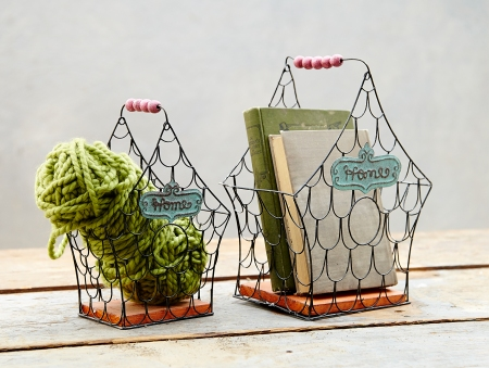 Patina Birdhouse Baskets