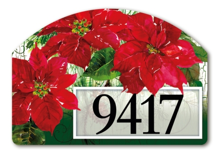 """Christmas Poinsettias"" by Gail Flores SKU: 71043"