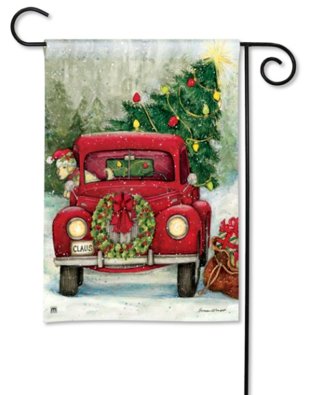 Bringing Home the Tree BreezeArt Garden Flag 31010