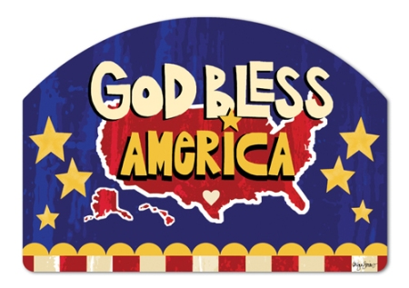 """God Bless America"" by Lorilynn Simms SKU: 71075"